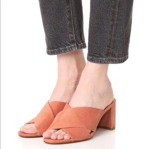 MADEWELL Crisscross Mid Mule Heels Size 10